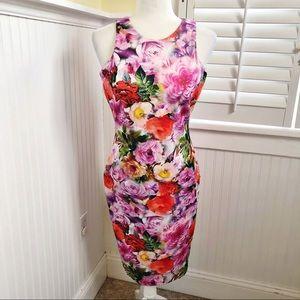 Alexia Admor High Neck Floral Sleeveless Dress